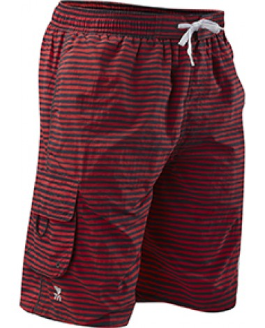 Шорты TYR Men's Micro Stripe Challenger Swim Short (591 Темно-красный)
