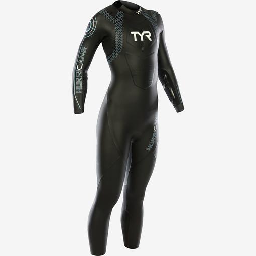 Гидрокостюм TYR Wetsuit Female Hurricane Cat 2 (086 Черный/Светло-голубой)