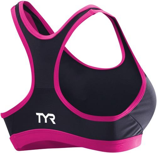 Бра TYR Women's Competitor Racerback Tri (030 Серый/Розовый)