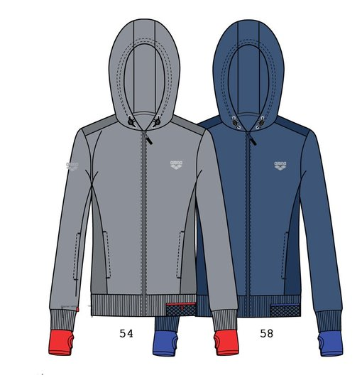 ARENA Кофта Training+ hooded full zip jacket (68409)
