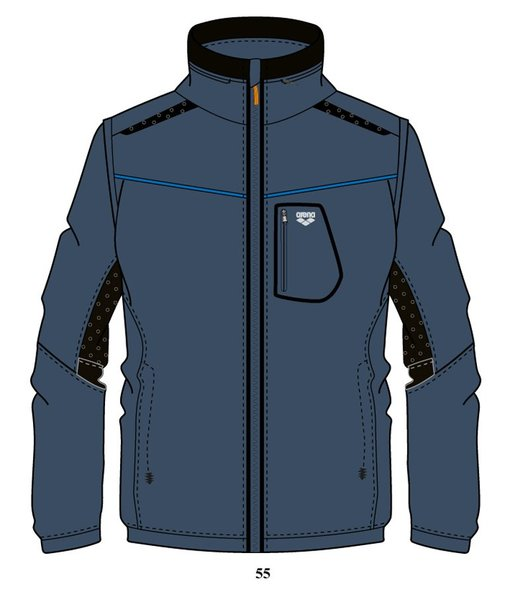 ARENA Куртка Training+ 2 in 1 hooded full zip jacket (68392)