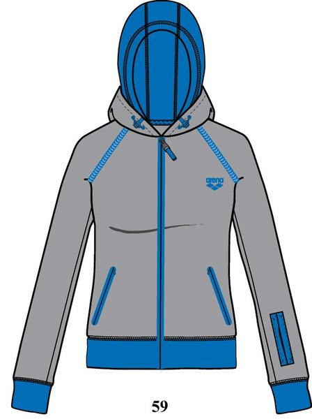 ARENA Кофта Training+ hooded full zip jacket (68381)